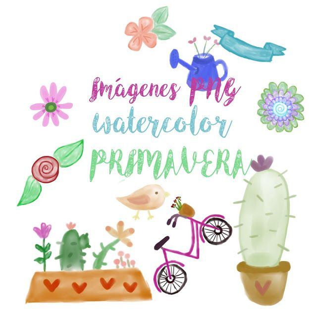 descargar, gratis,imprimibles, png, watercolor, primavera | BLOGGER ...
