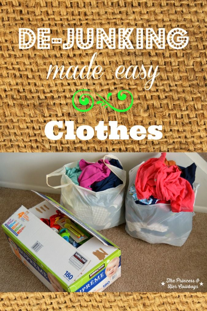 De junking made easy series starting with clothing it is for Best way to get rid of clutter