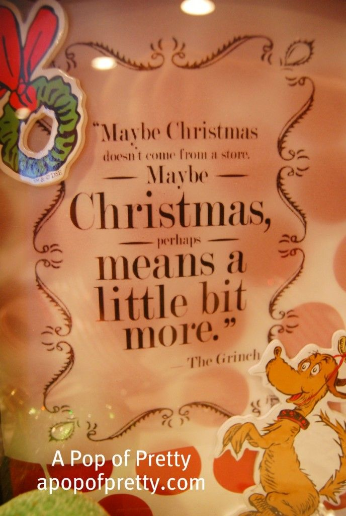 maybe christmas means a little bit more dr seuss christmas quote