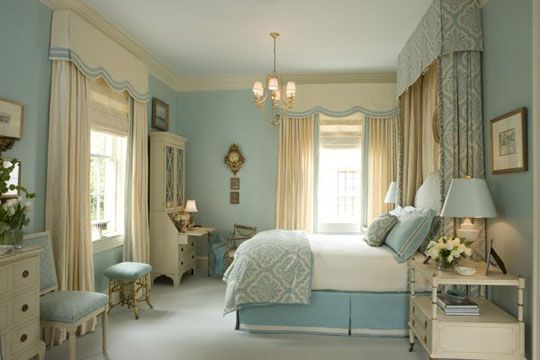 I Pinned A Smaller View Of This Room It S So Nice To See More Of It I Really Do Like It The Onl Romantic Bedroom Colors Serene Bedroom Blue And Gold