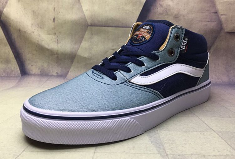 47e2eb0553 Vans Gilbert Crockett Half Cab Mens Blue Denim Skate Shoes  Vans ...