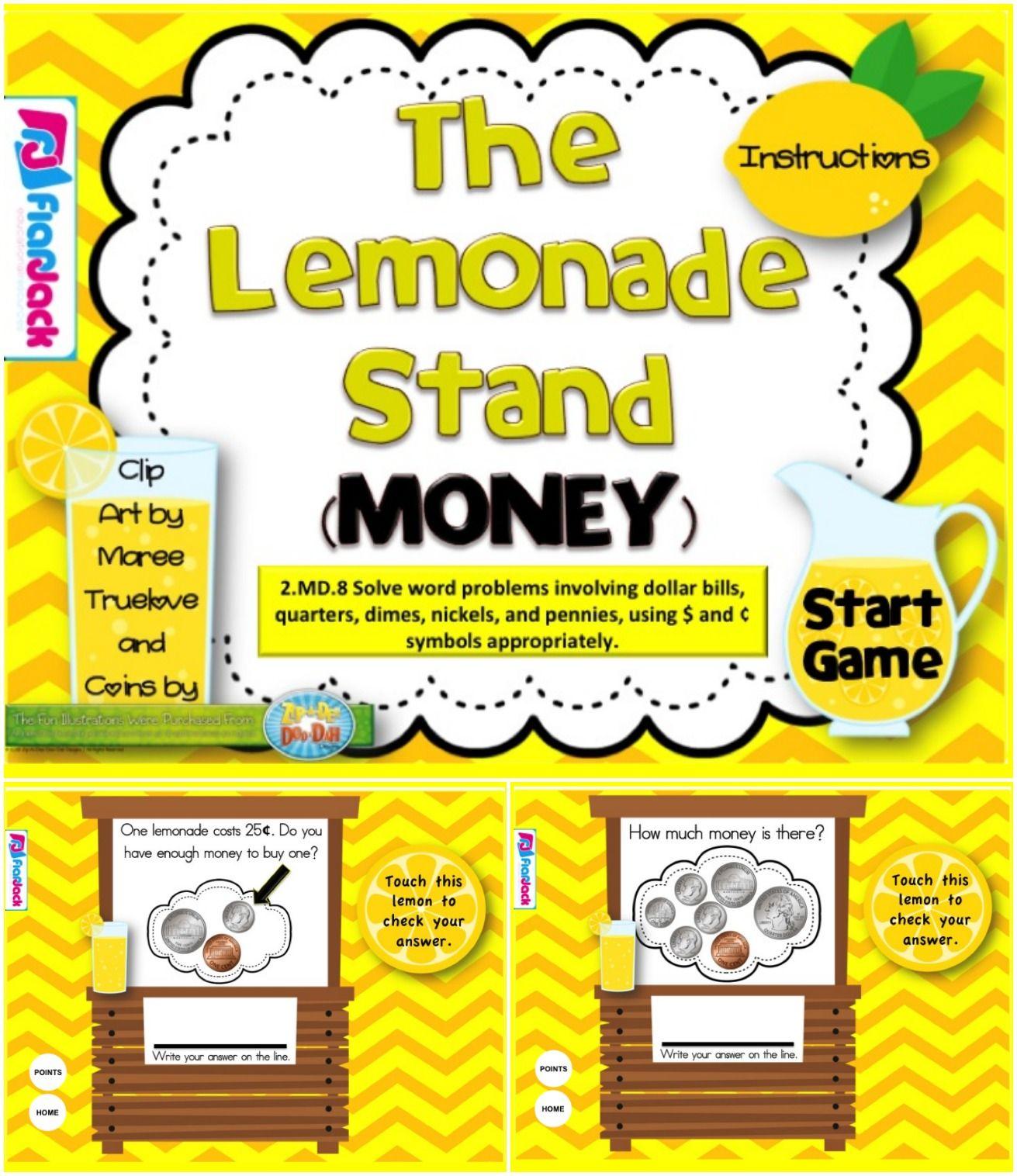 2nd Grade Money Smart Board Game (CCSS.2.MD.8) Smart
