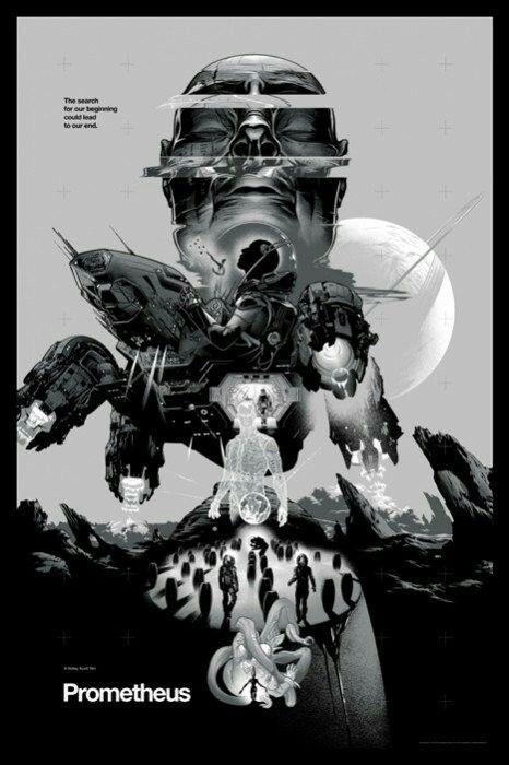 Movie Posters - Mondo - Prometheus by Martin Ansin