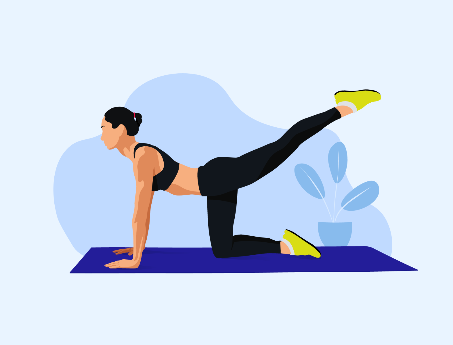 Workout Woman Illustration - Stay Safe & Healthy   Sports illustrations  art, Woman illustration, Sport illustration