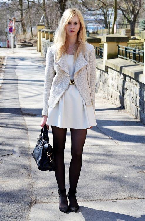 dress -Stylesofia/jacket -Promod /tights -HM /shoes -Zara /bag -Balenciaga /belt -Moschino /watch -Michael Kors /bracelets -Vjstyle, HM