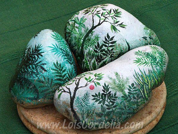 painted rocks for garden | Lois Cordelia Buelow-Osborne - Art Portfolio and Gallery