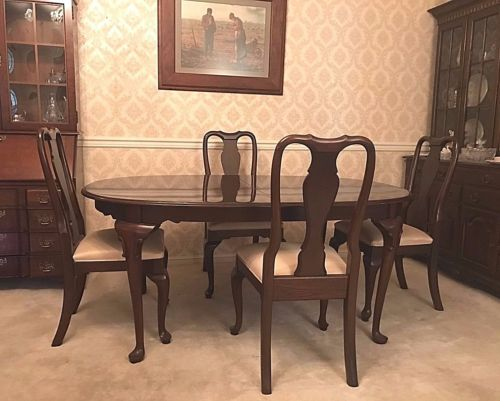 Ethanallengeorgiancourtdiningtable4Chairs2Leaves  My Enchanting Dining Room Table And Chairs For 4 Decorating Inspiration