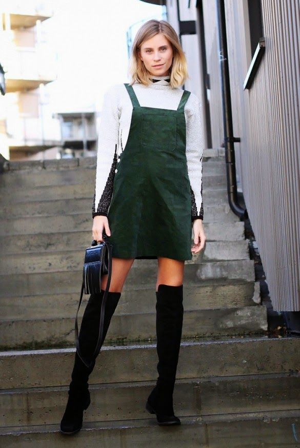 Pinafore Amp Thigh Highs Tine In Stockholm Fashioneaters