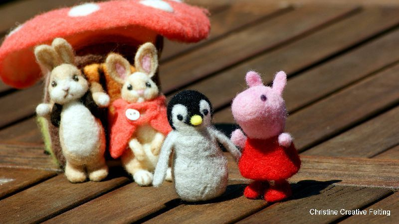 Needle felted pets - Christine Creative Wool Needlefelting