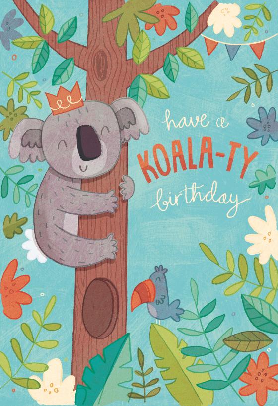 Koala Ty Birthday Birthday Card Free Greetings Island Happy Birthday Animals Birthday Illustration Cute Birthday Cards