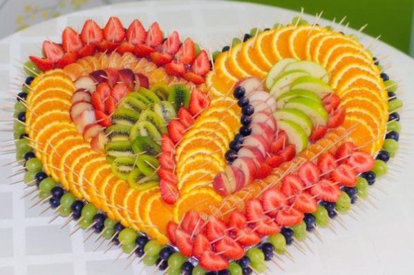 Нарезка фруктов на праздничный стол в домашних условиях ...