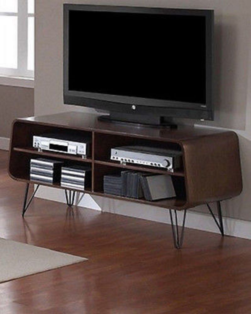 Entertainment Media Center Tv Stand Retro Modern Vintage Table  # Meuble De Tele Retro