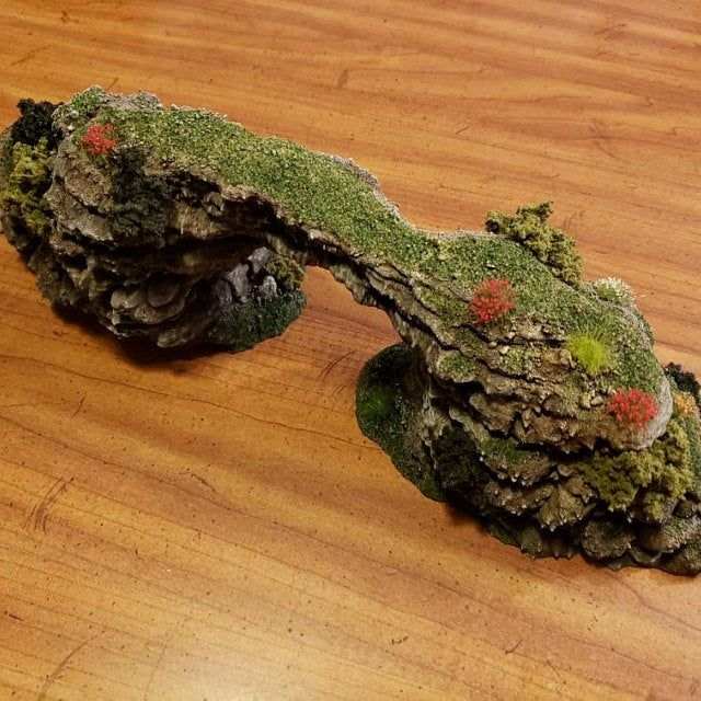 Wargame Terrain - Jutting Rock STUB Outcropping A - Miniature Wargaming & RPG hill terrain