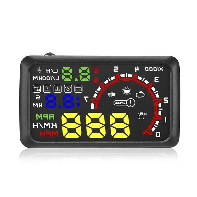 Car HUD Head Up Display Over Speed Warning OBD2 Speedometer Projector Safe 5.5/""