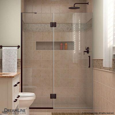 Dreamline Unidoor X 23 W X 72 H Hinged Frameless Shower Door With Clearmax Technology Frameless Shower Doors Shower Doors Frameless Shower