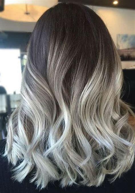 Image Result For Ash Blonde Balayage Highlights On Dark Hair Ash Blonde Hair Colour Blonde Hair With Highlights Balayage Hair Grey
