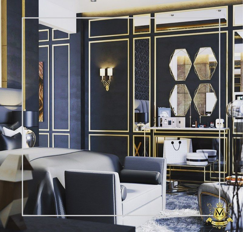 Adding gold to the space automatically transforms the space from minimalist to maximalist space. . . . .