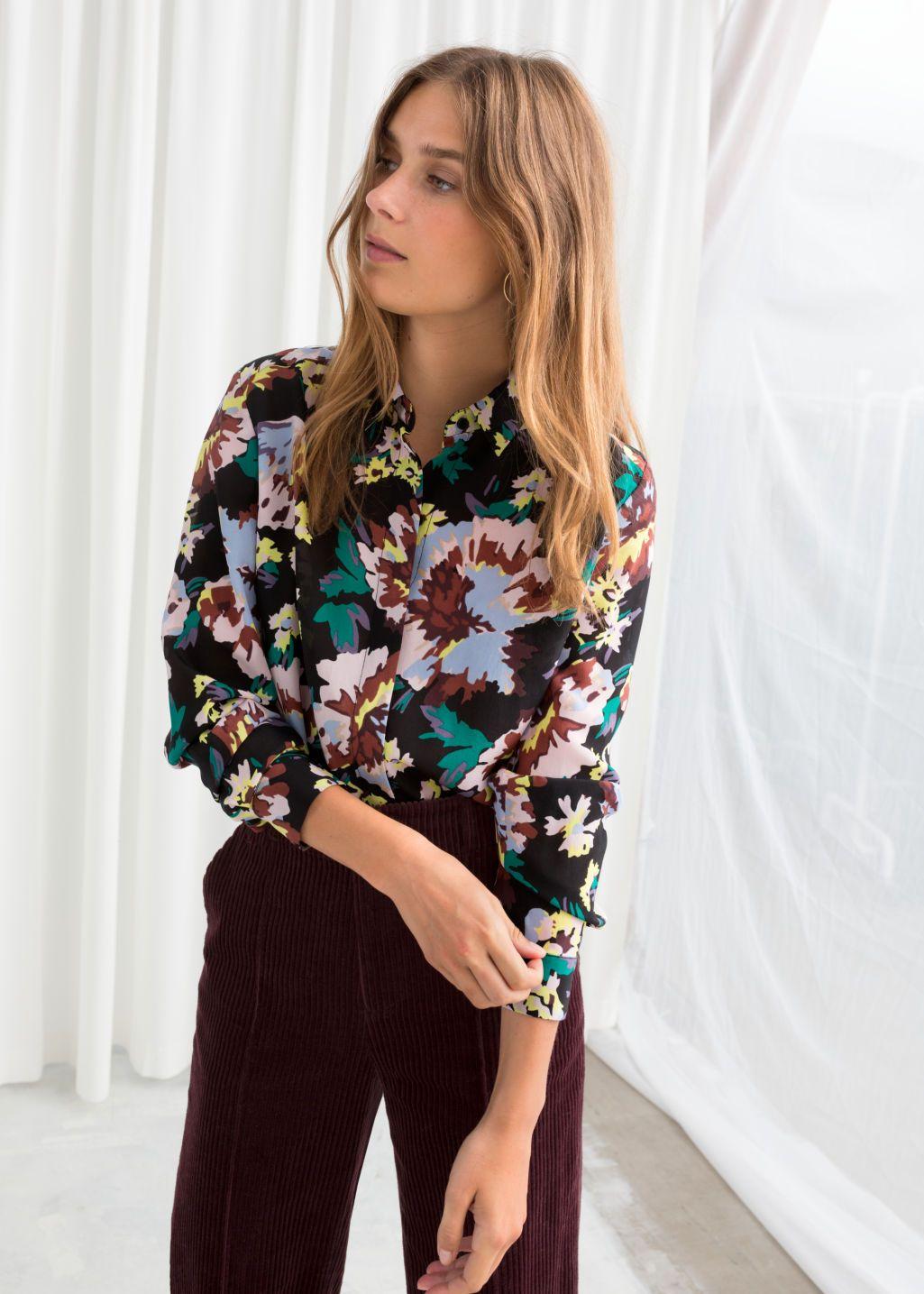 ce268e89748c0b Silk Shirt in 2019   Style // Wish List   Shirts, Flower shirt
