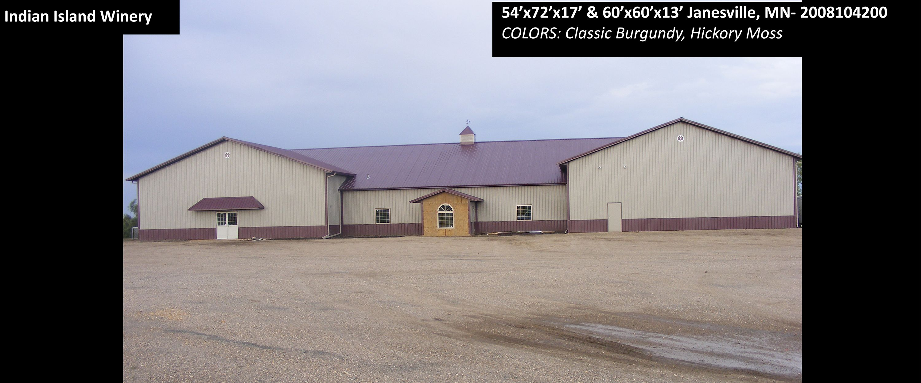 Garage Builders Janesville Wi 54 X72 X17 Cleary Winery Building In Janesville Mn Colors