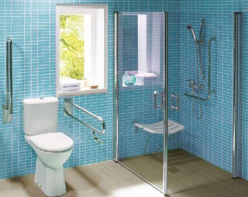 Diseno de ba o para discapacitados de ba os para for Agarradera para ducha