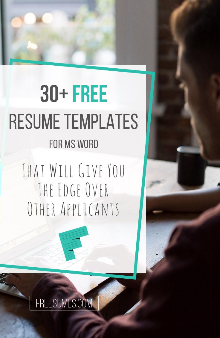 Free Resume Templates For Ms Word  Microsoft Word Template And Free