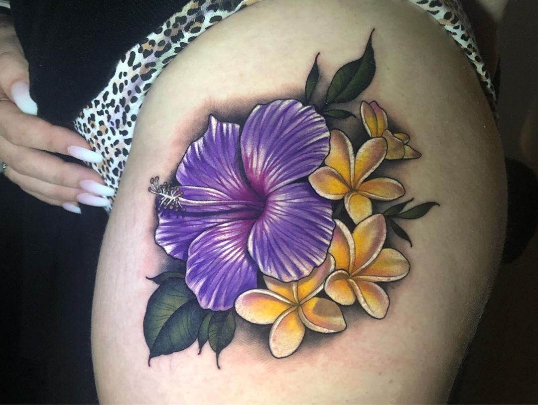 Hibiscus And Plumeria Tattoo Tattoo Ideas And Inspiration Plumeria Tattoo Hibiscus Tattoo Neck Tattoo