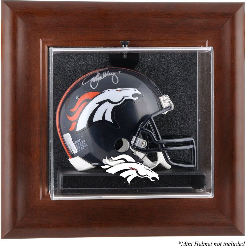 bbd76350 Denver Broncos Fanatics Authentic Brown Framed Wall-Mountable Mini ...