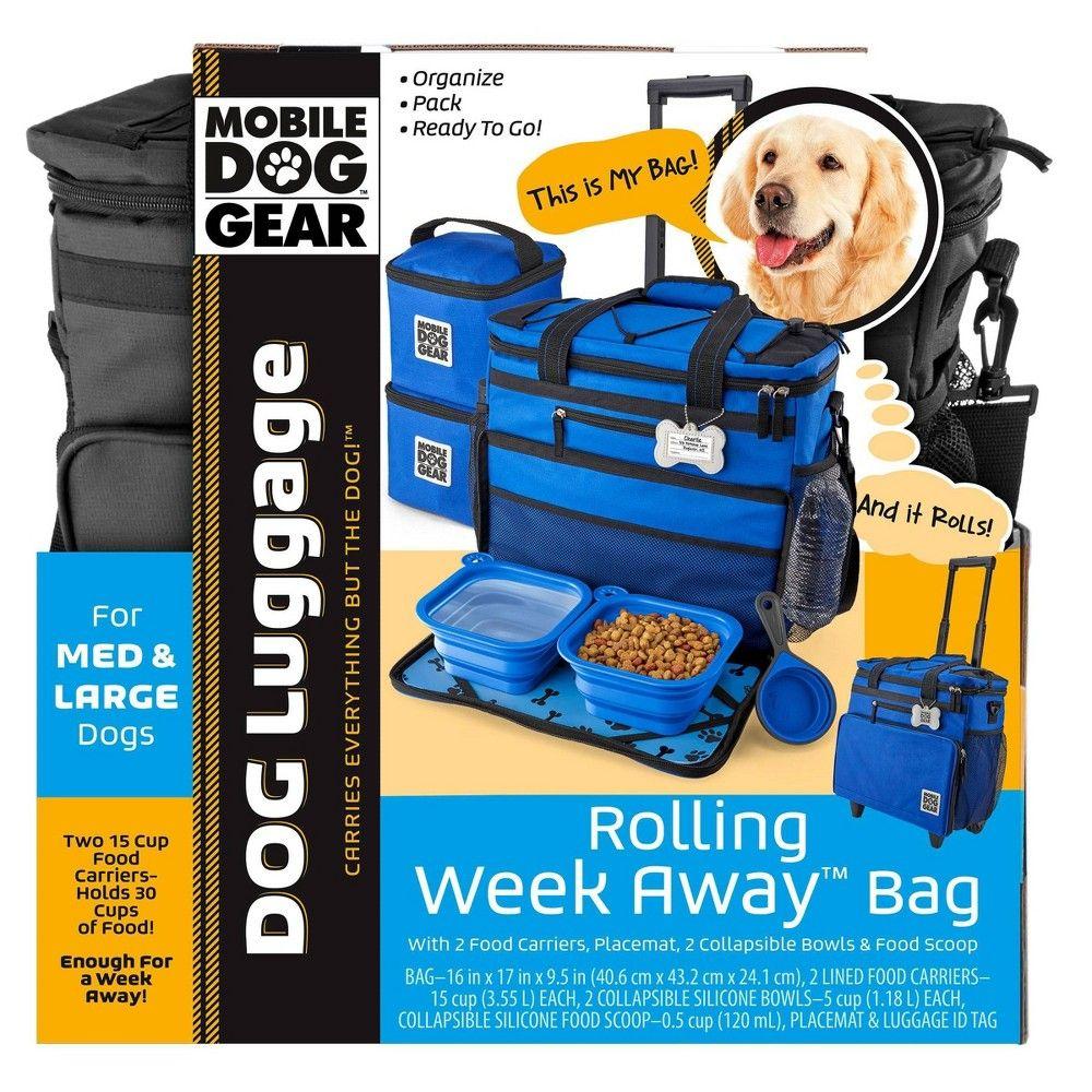 Overland Travelware Suitcase Dog Rolling Weekender Black