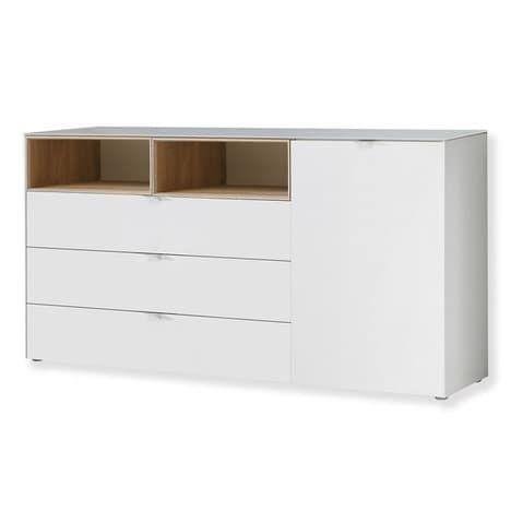Kommode STAMFORD - weiß-Sonoma Eiche - 181 cm Küche Pinterest - kommode für küche