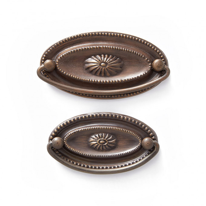 Hepplewhite Oval Brass Drawer Pull Small Antique Brass In 2020