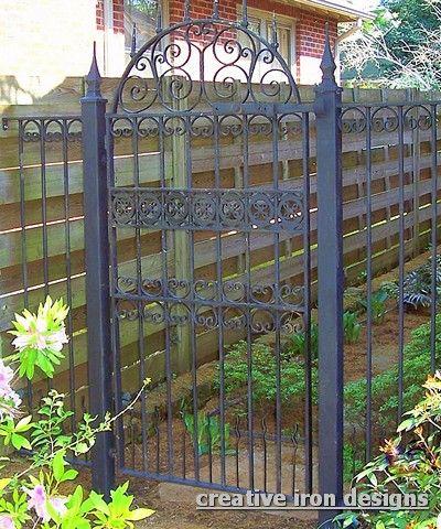 Garden Gate Plans | Antique Iron Garden Gate | The Atrium