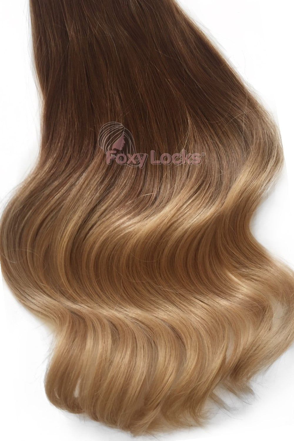 Deluxe 20inch 165g Seamless Clip In Extensions Honey Spice