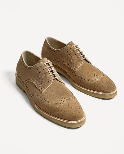 27e15f93d Imagem 4 de SAPATO PELE BEGE PICADO da Zara | calçados | Sapatos ...