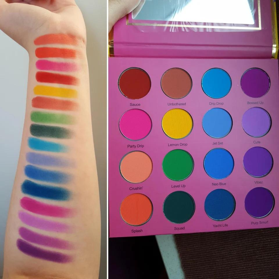 Coloured raine vivid pigments palette + swatches