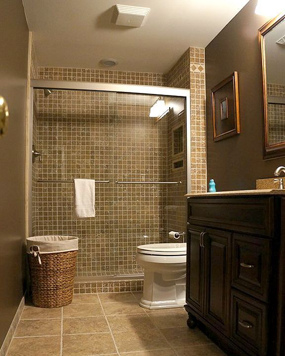 Photos featured basement remodel basement bathroom for Basement bathroom ideas