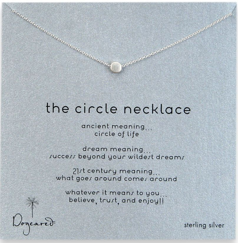 "Dogeared The Circle 16"" Necklace - Sterling Silver"