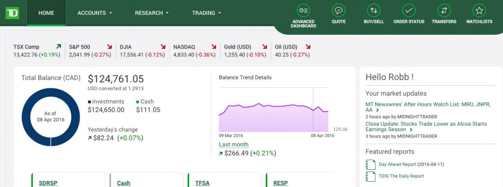 Td Direct Investing Webbroker Platform Review Investing