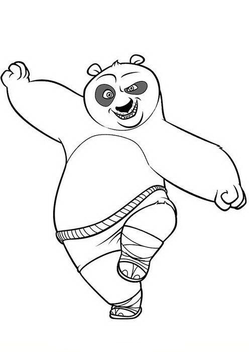 Kung Fu Panda Tegninger til Farvelægning. Printbare Farvelægning for ...