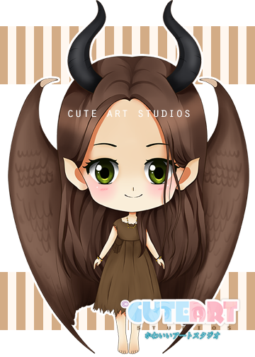 Young maleficent chibi by crowndolls.deviantart.com on @DeviantArt