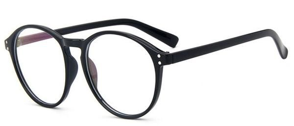 2752d646de8 Fashion Black round glasses clear frame Women Spectacle myopia glasses Men  EyeGlasses Frame nerd optical frames