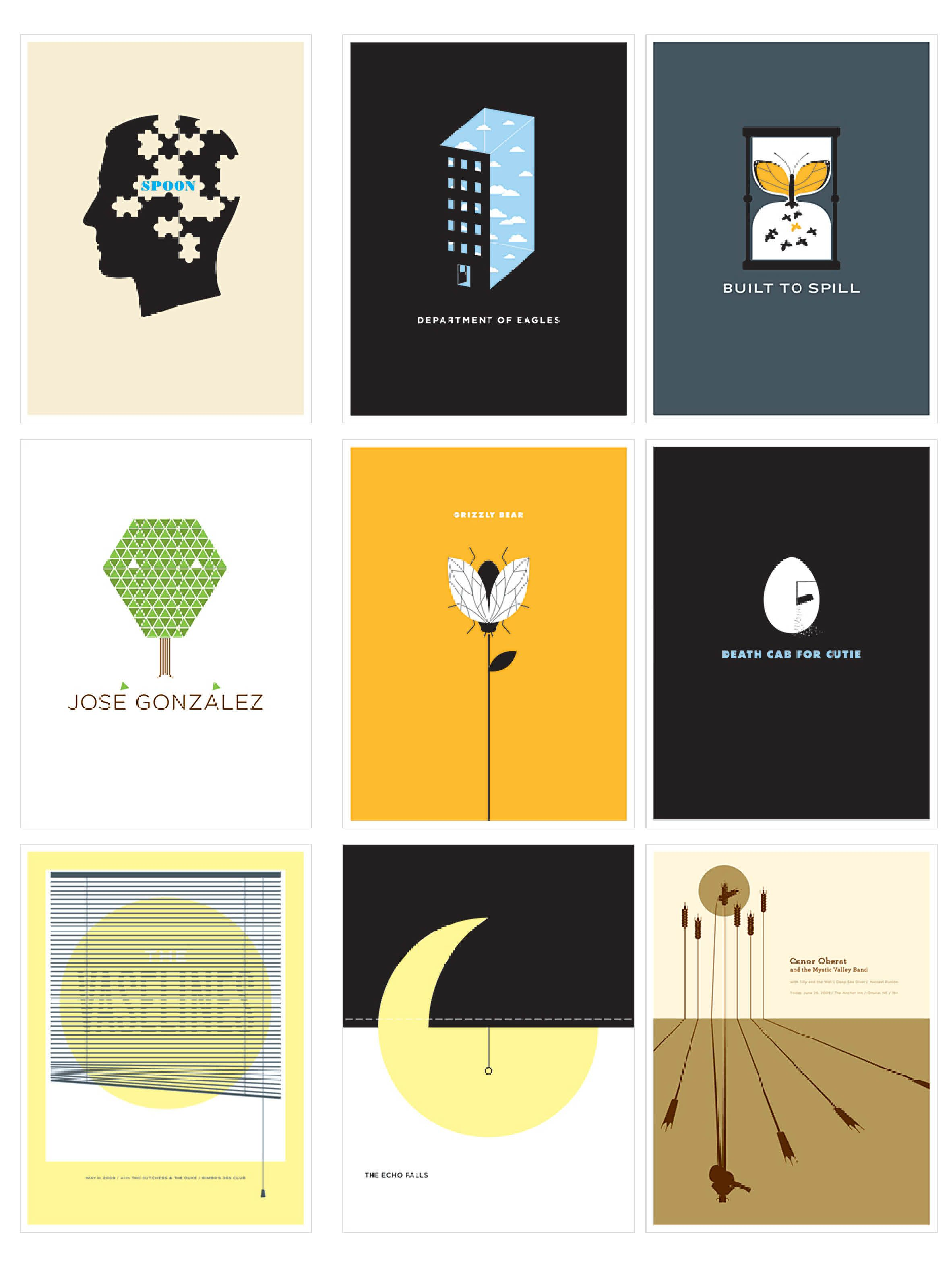 The Small Stakes Great Minimalist Design Of Concert And Music Posters I Love Just About A Gig Posters Design Graphic Design Agency Graphic Design Inspiration
