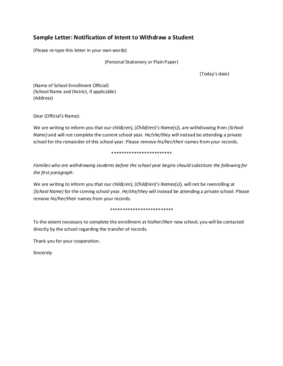 Business Letter Format Middle School Cover Sample Letters For