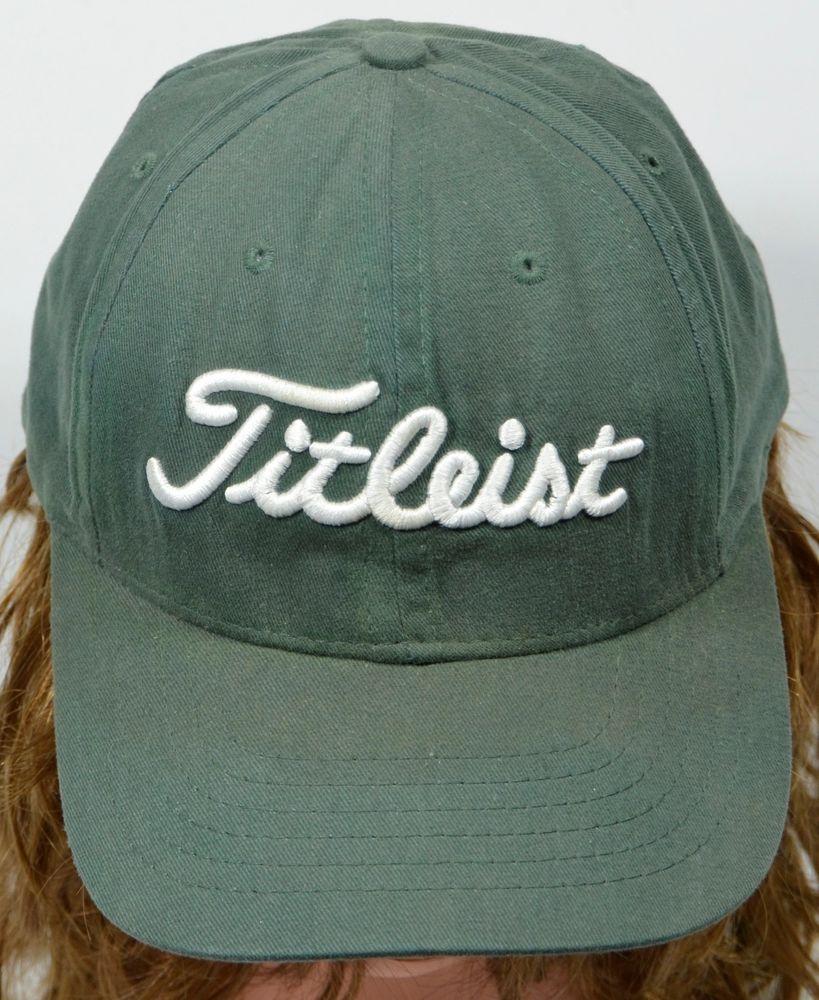 Titleist DCI Golf Green Hat Leather Strapback 3D Embroidered Cap  Titleist   BaseballCap 81618e006100