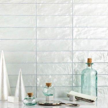 montauk sky 2x8 ceramic wall tile | handmade tile