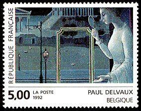 Paul delvaux belgique le rendez vous d eph se d tail for Paul delvaux le miroir