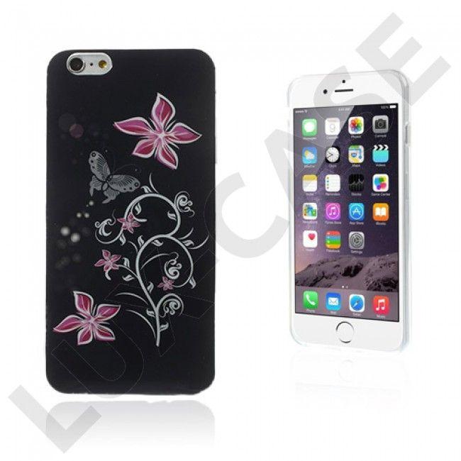 Flower (Perhonen & Violetti Kukka) iPhone 6 Plus Suojakuori