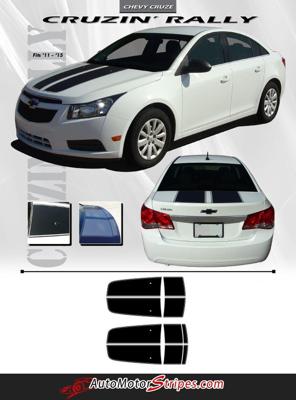 Hood Trunk Rally Racing 3M Pro Vinyl Stripe Graphic Decal 2011-2015 Chevy Cruze