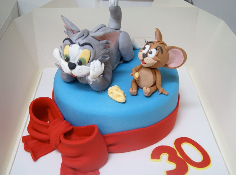 Tom Jerry Birthday Cake Of The Hook Cakes Pinterest
