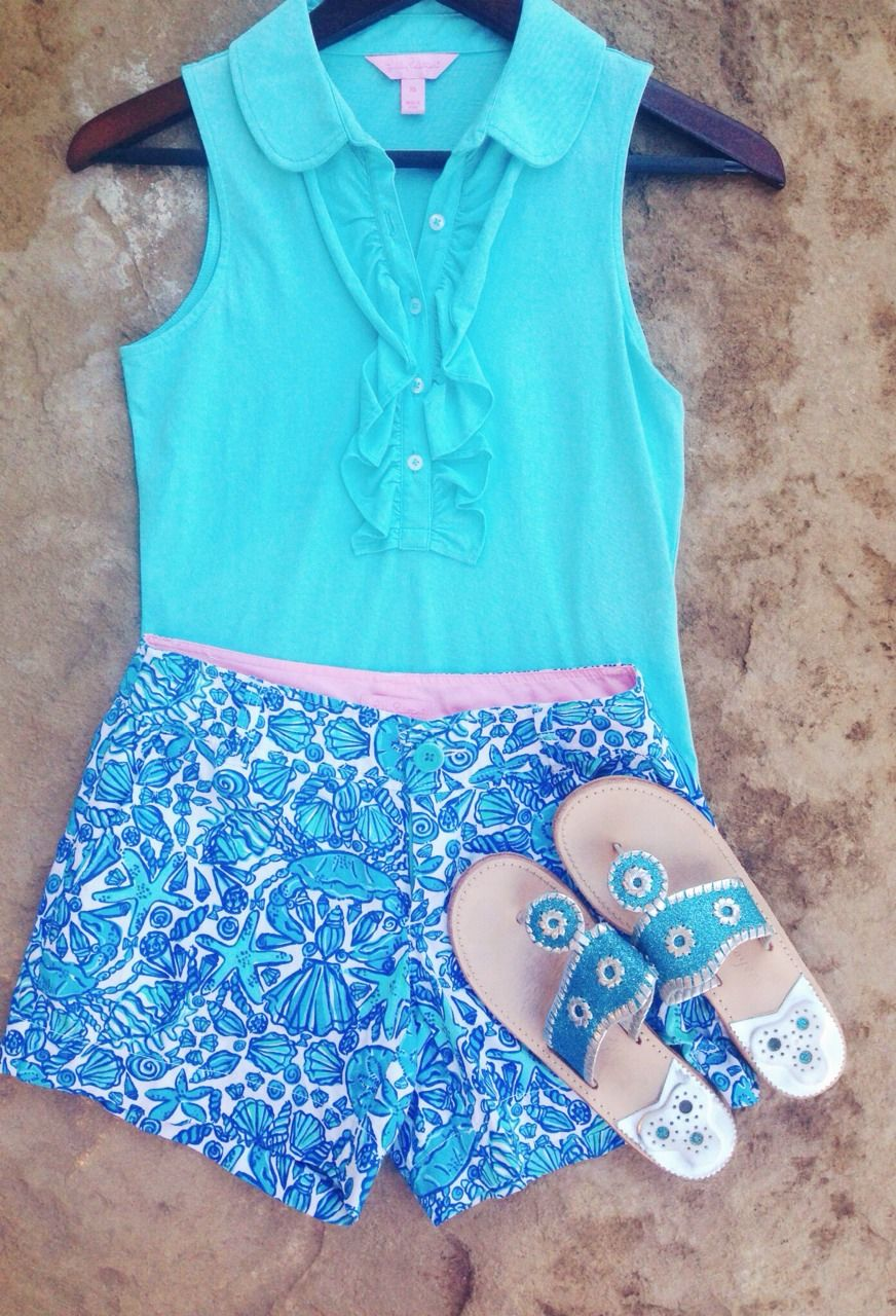 Spring break outfit #6 Top- Lilly Pulitzer Shorts- Lilly Pulitzer ...