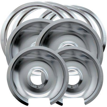 Range Kleen 8 Piece Drip Pan Trim Ring Style D Fits Hinged